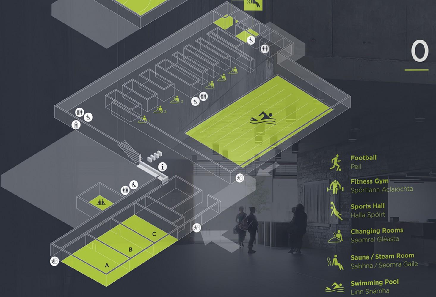 都柏林市议会休闲中心标识设计©Detail. Design Studio
