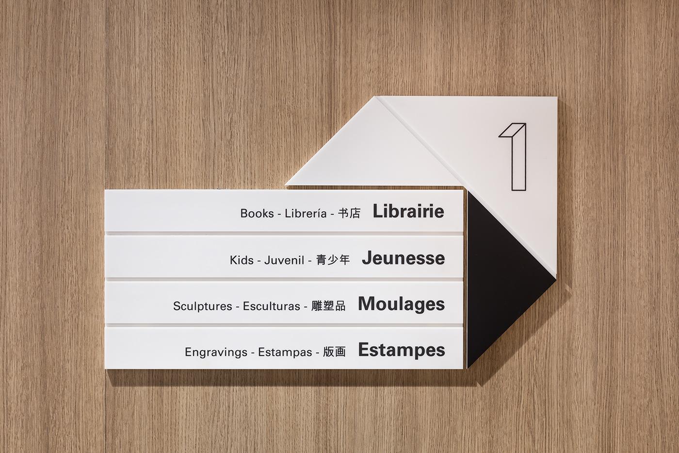 卢浮宫新书店环境导视设计©Valérie de Berardinis