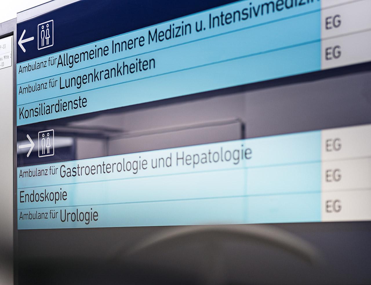 LKH Leoben医院导视设计©Bohatsch Und Partner