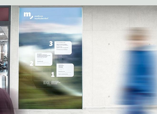 马克托伯多夫medicum 医疗中心导视设计© designgruppe koop