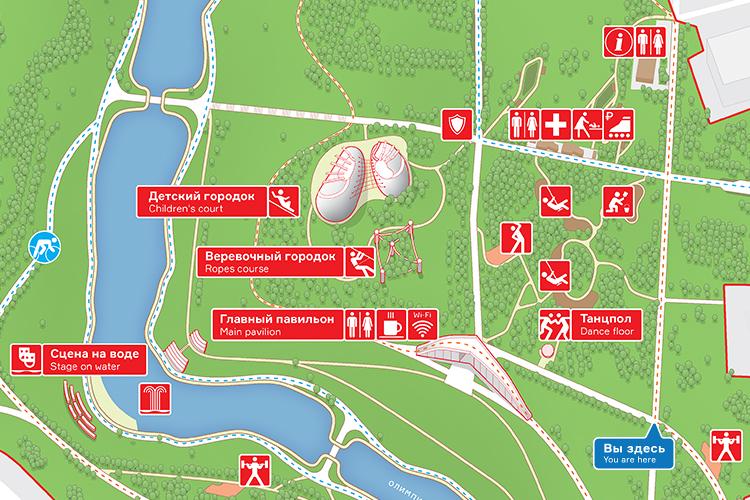 莫斯科奥运村公园导视设计 ©ZOLOTO Group