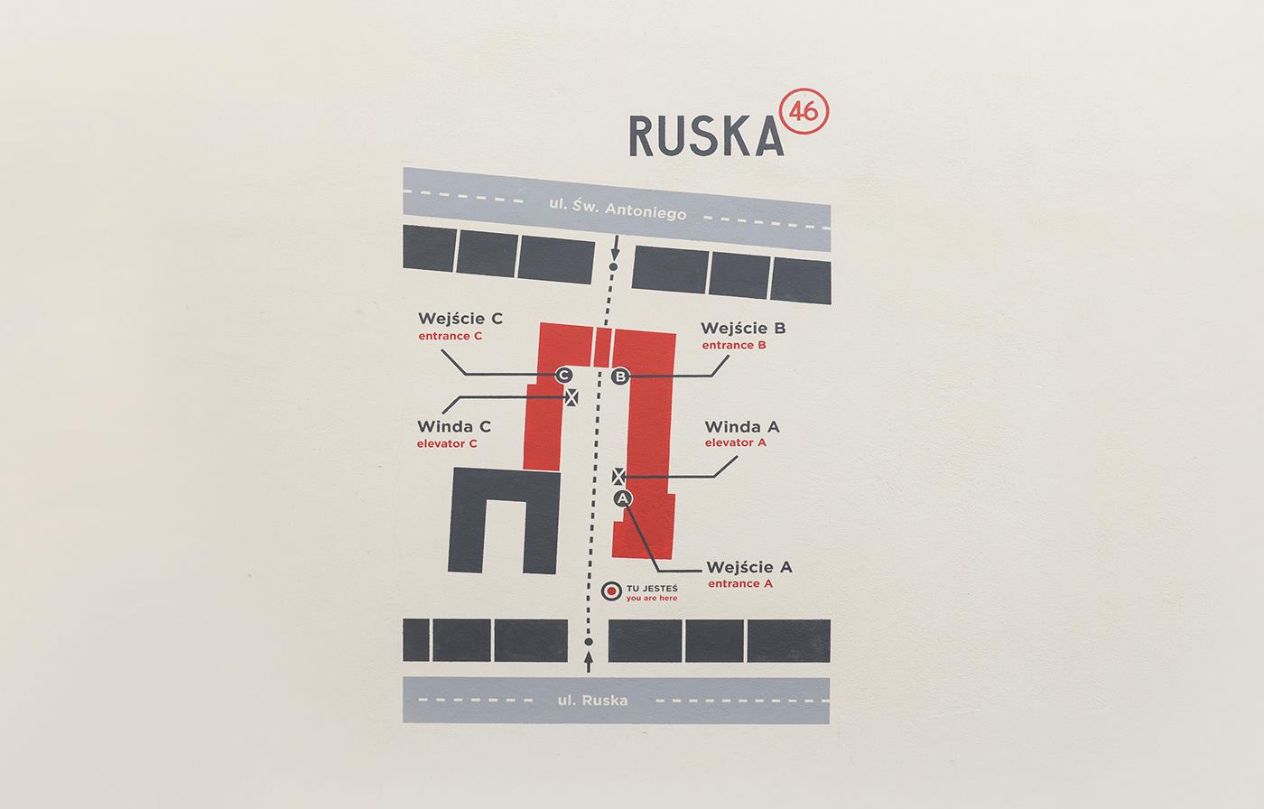 Ruska 46 标识设计© Artur Busz