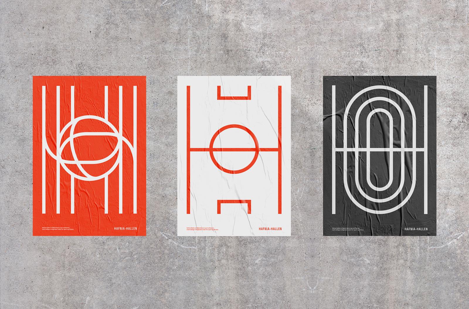 Hafnia-Hallen 体育中心标识设计©Re-public
