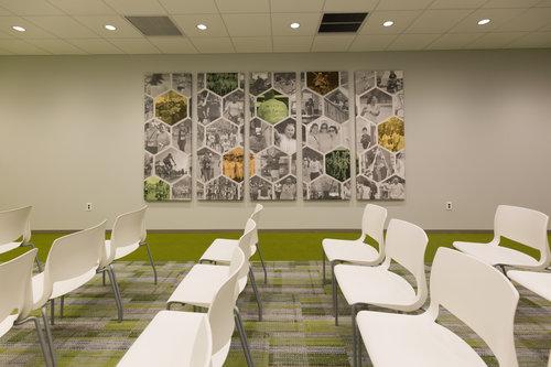 亨廷顿国家银行办公场所空间设计©TENFOLD