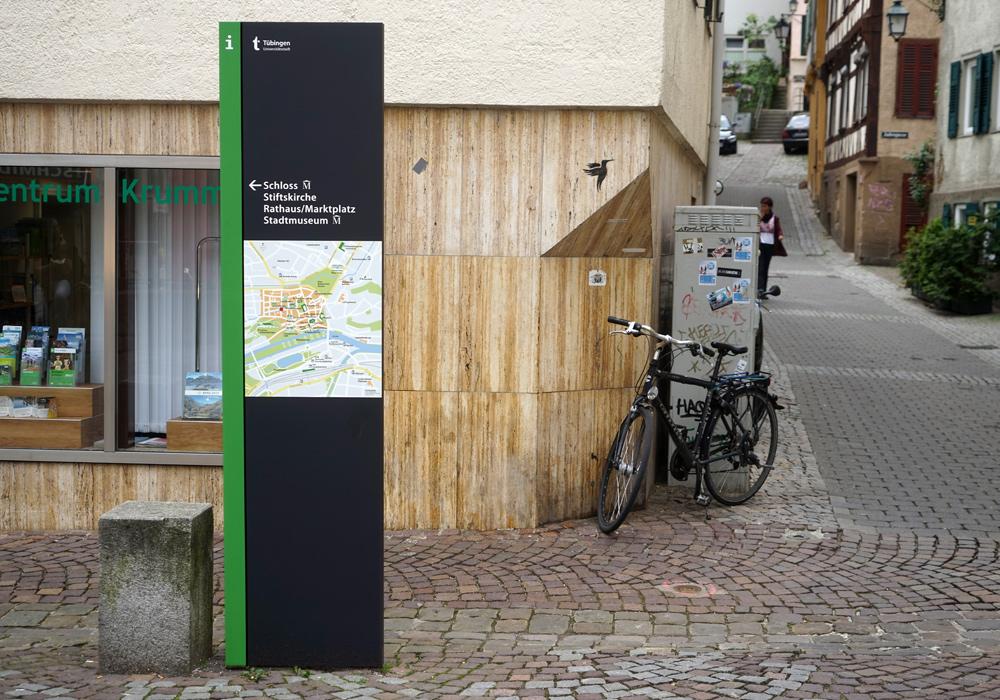 蒂宾根旅游区导视设计©braun engels gestaltung