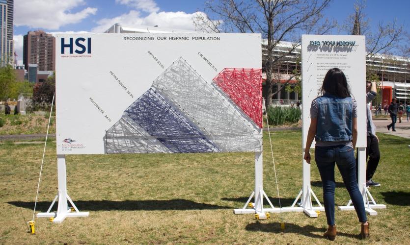 丹佛大都会州立大学西班牙裔服务机构公共装置设计©Metropolitan State University of Denver