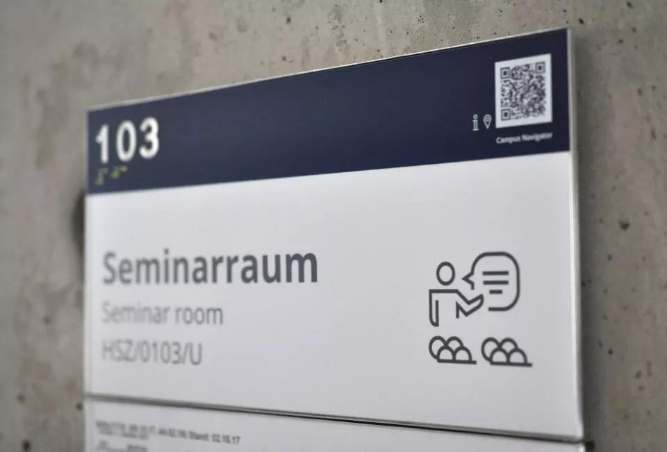 德累斯顿工业大学导视设计©Studio KW