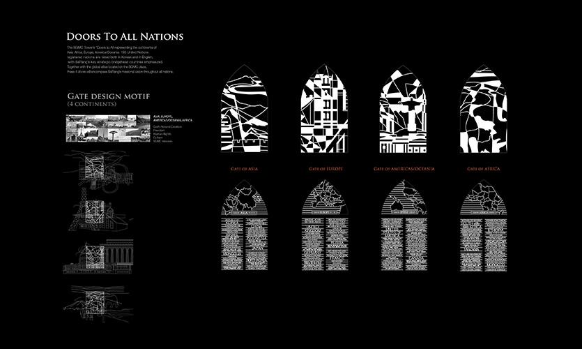 SaRang全球传教中心钟楼地标设计©YIEUM Partners