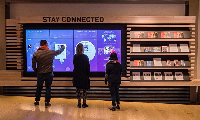 比尔及梅琳达•盖茨探索中心互动体验设计©Bluecadet Interactive