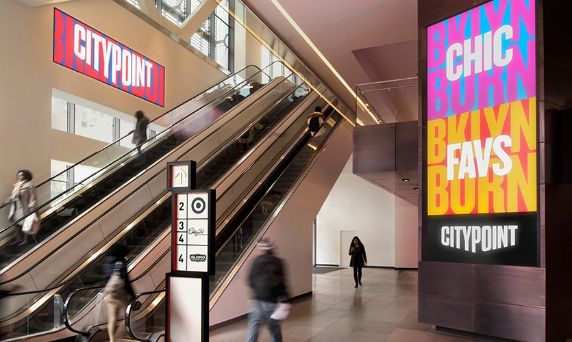 City Point 场所构建和标识设计©Pentagram