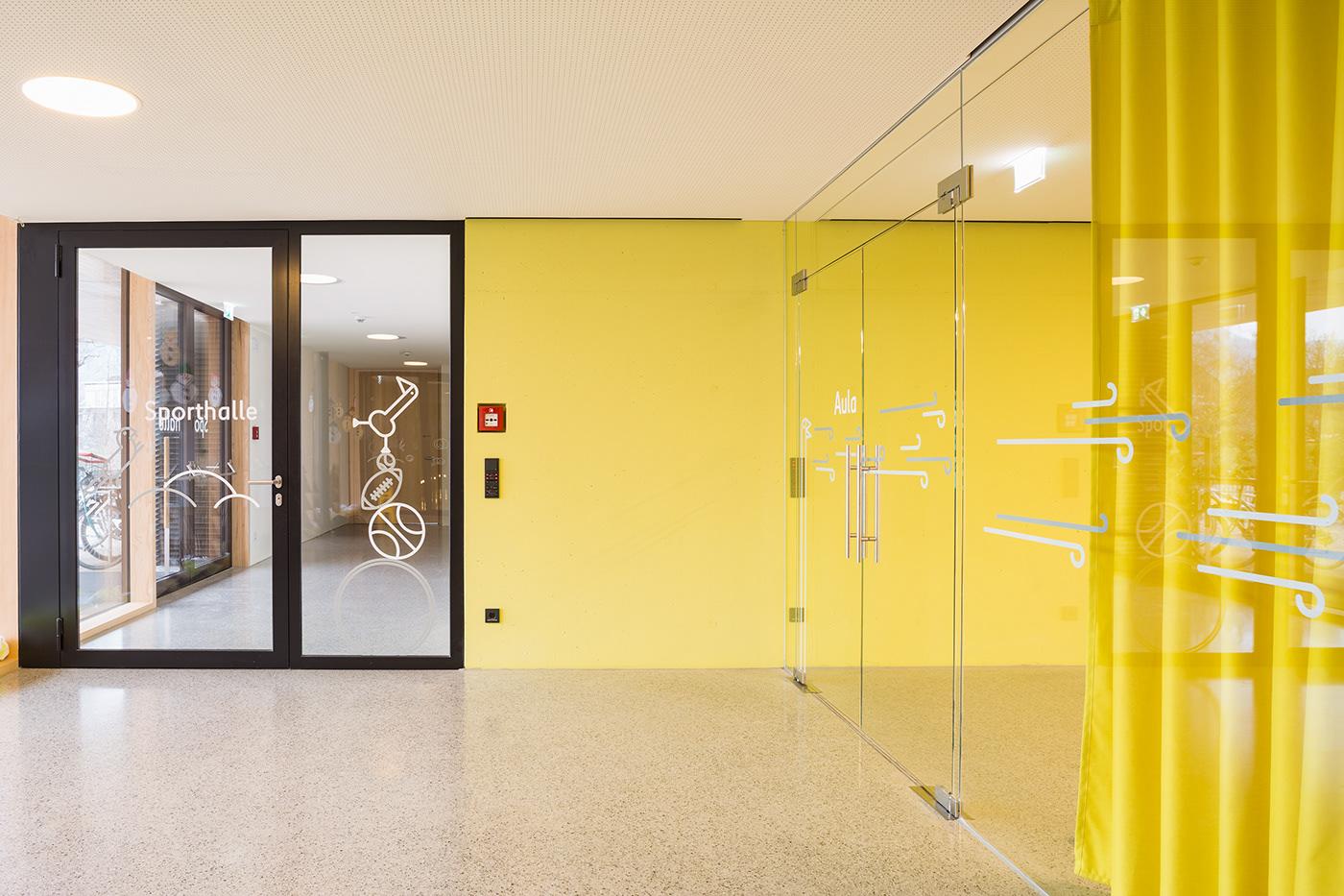 Volksschule Erlach学校标识设计 © Sägenvier DesignKommunikation