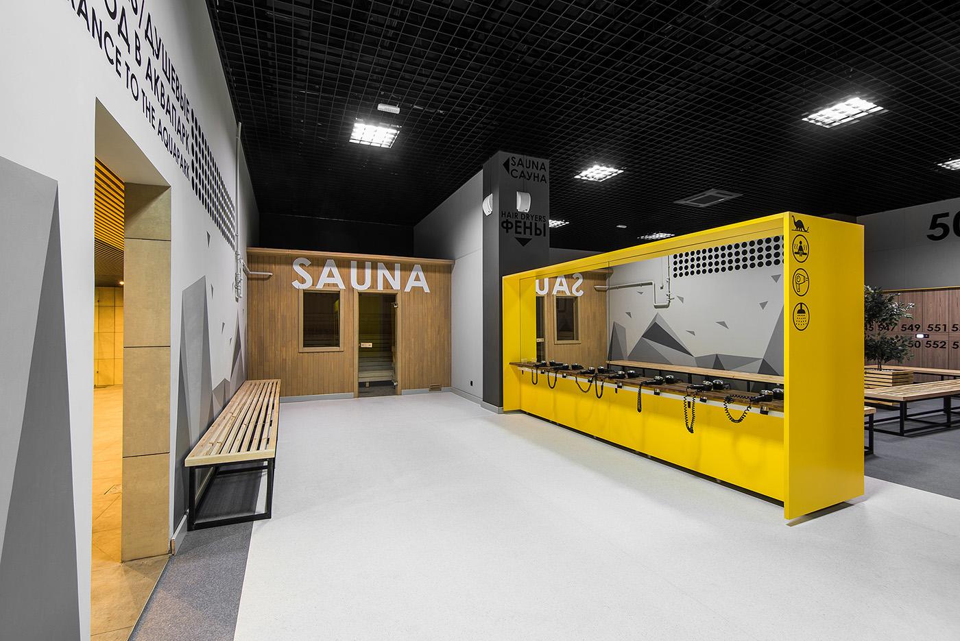 """俄罗斯喀山水上公园""""Barionyx""""SPA间室内设计 ©TSAN DESIGN"""