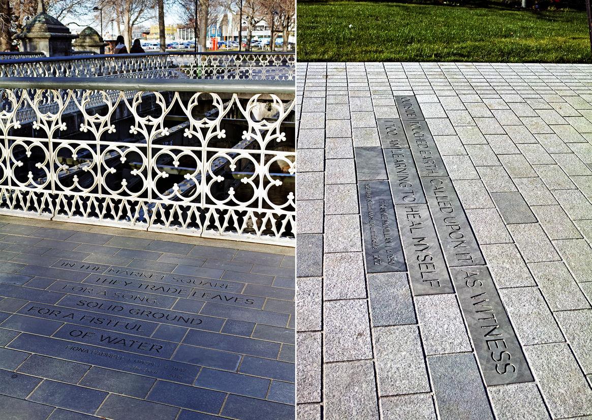 波士顿雅芳河区文学小径标识设计 © Neil Pardington Design  LandLAB