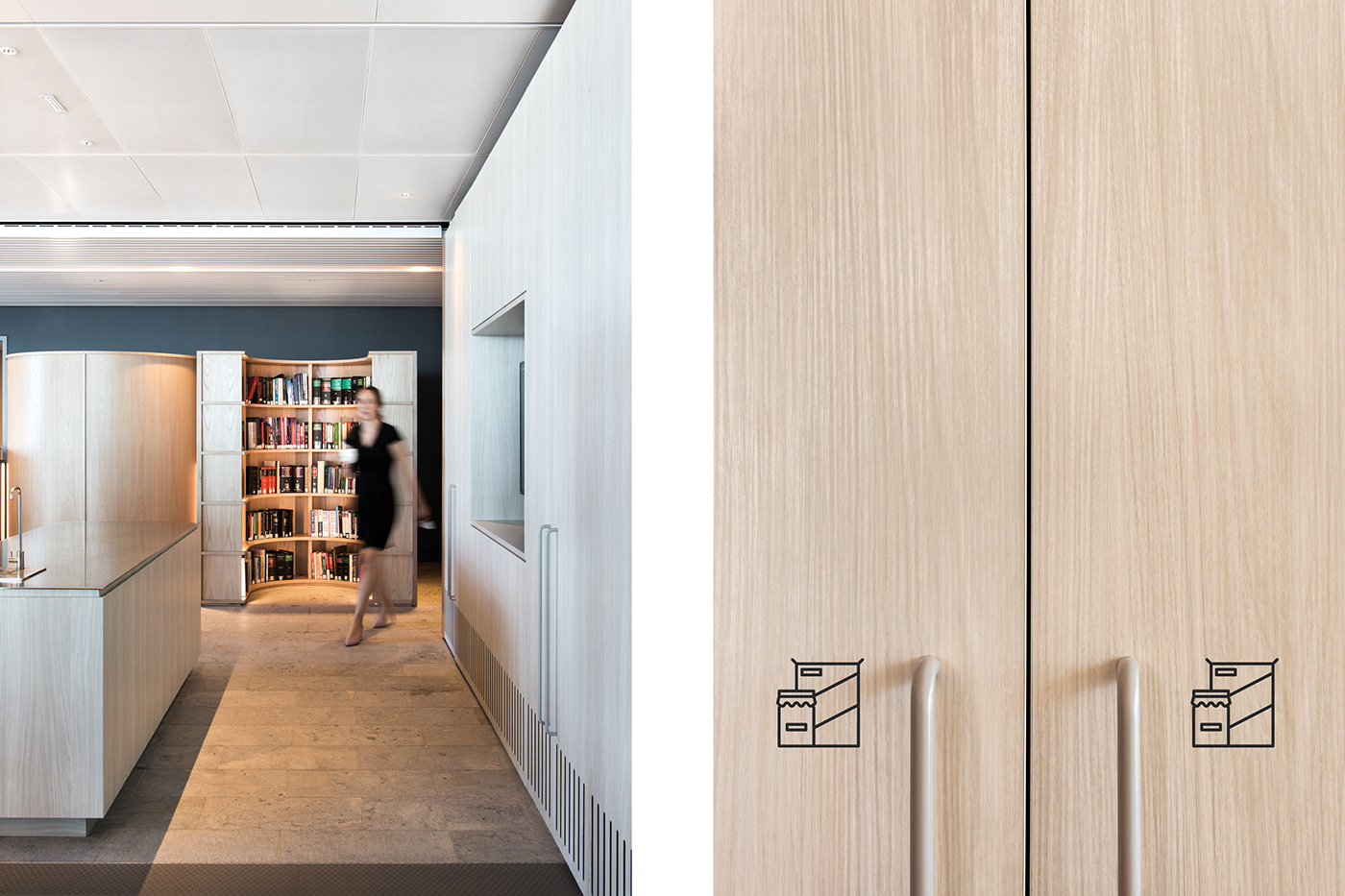 贝克·麦坚时(Baker&McKenzie)悉尼总部标识系统设计  © Pop & Pac Studio