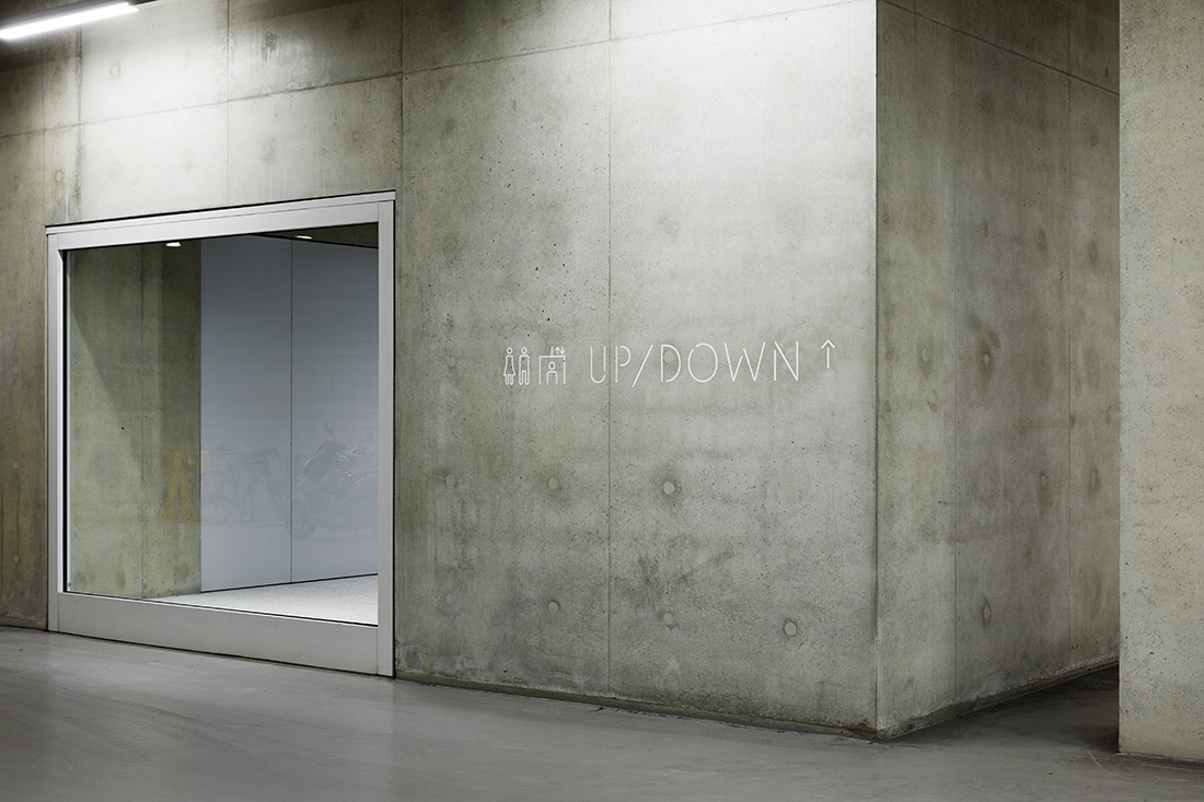 为morepacific首尔新公司总部Chipperfield设计的提供建筑品牌,环境图形,标牌© pentagram, Sascha Lob