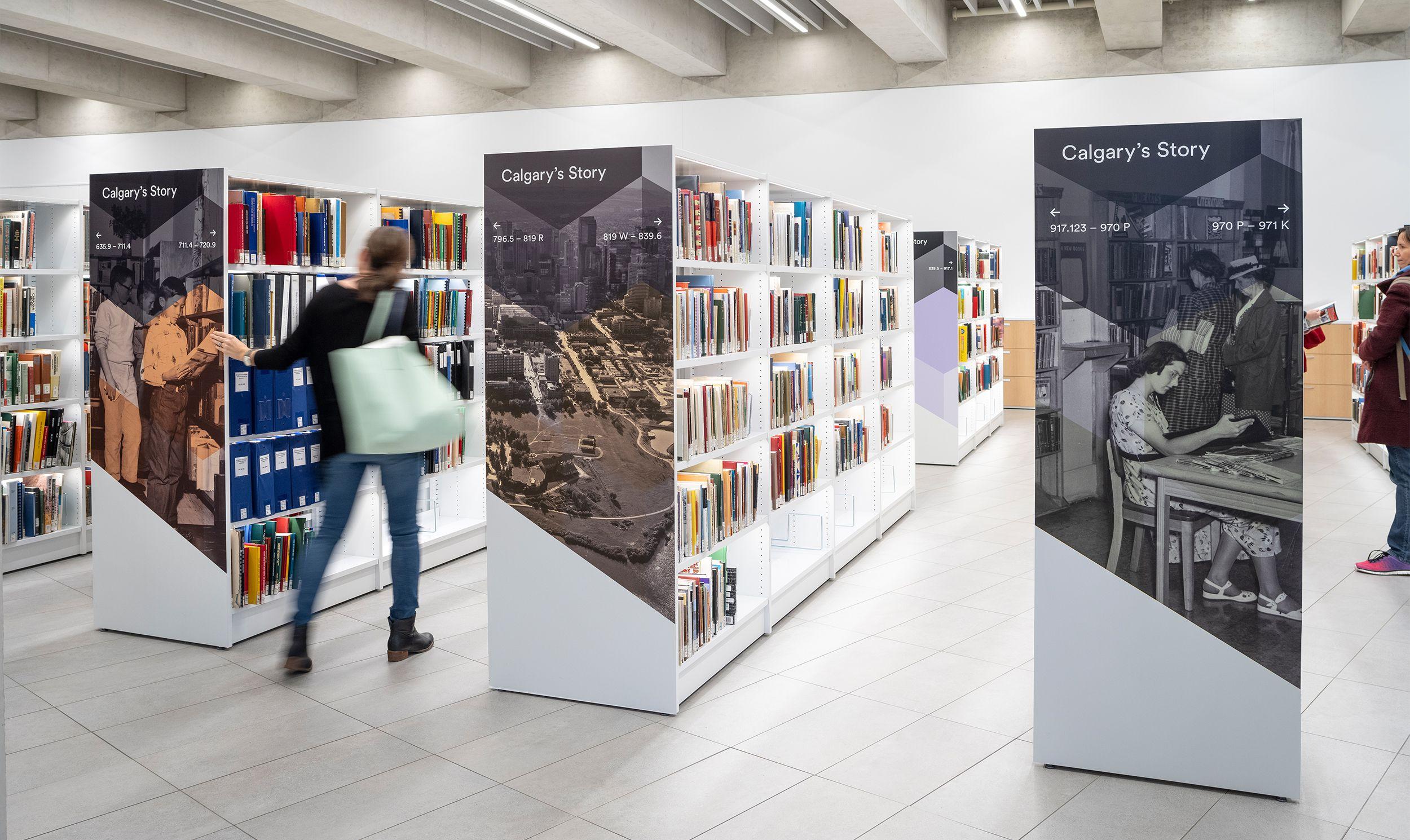 卡尔加里地标建筑 - 图书馆标识设计 © entro