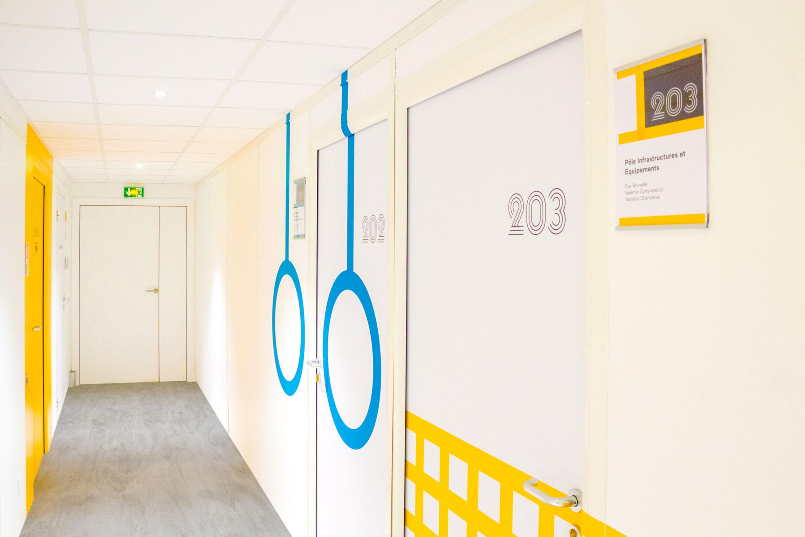 2024巴黎奥林匹克筹备办公室环境图形及标识设计 © cldesign