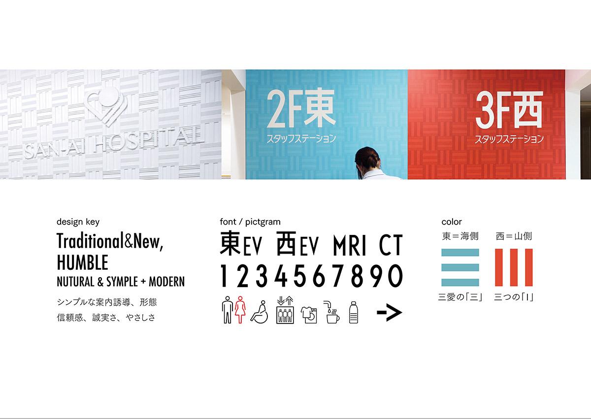 三愛病院标识设计 © 中牟田 麻弥