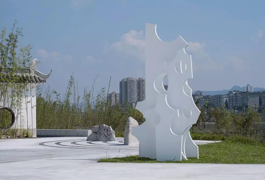 长江竹岛公共导视和艺术装置设计 © 良相设计