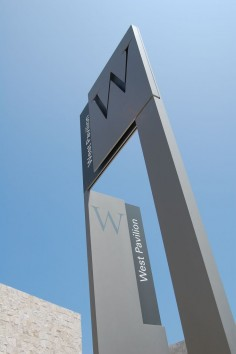 west pavilion signage design