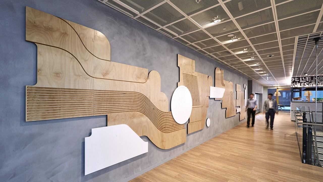 西太平洋银行集团总部环境指示系统和办公空间环境图形设计 © Frost Collective