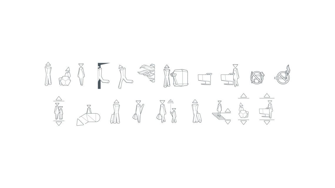 Cristal购物中心标识系统设计©cche